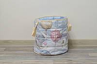 """Маленькая хлопковая корзина для игрушек """"Вокруг света"""", фото 1"""
