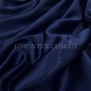 Ткань креп сатин синий темно-синий