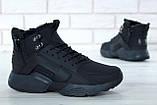 """Чоловічі зимові кросівки Nike Air Huarache Acronym """"Black"""" (Найк) чорні, фото 5"""