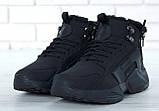 """Мужские зимние кроссовки Nike Air Huarache Acronym """"Black"""" (Найк) черные, фото 3"""