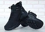 """Мужские зимние кроссовки Nike Air Huarache Acronym """"Black"""" (Найк) черные, фото 8"""