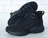 """Мужские зимние кроссовки Nike Air Huarache Acronym """"Black"""" (Найк) черные, фото 9"""