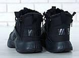 """Мужские зимние кроссовки Nike Air Huarache Acronym """"Black"""" (Найк) черные, фото 7"""