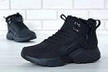 """Мужские зимние кроссовки Nike Air Huarache Acronym """"Black"""" (Найк) черные, фото 10"""