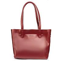 Женская кожаная сумка красного цвета, фото 1