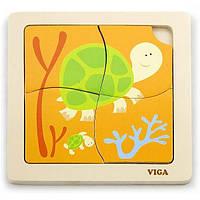 """Пазл Viga Toys """"Черепашки"""" (50143)"""