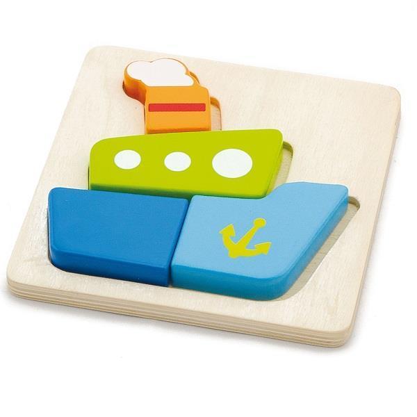 """Міні-пазл Viga Toys """"Кораблик"""" (50171)"""