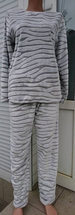 Женская серая пижама с брюками Шиншилла 44-54 р, фото 2