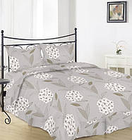 Простынь на полуторную кровать Вилена бязь Голд Цвет калины на бежевом размер 145х220