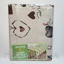 Скатерть клеенчатая с пропиткой на тканевой основе для кухни ,140*220 см