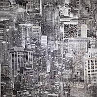 Обои Мегаполис 338-10,длина 15 м,ширина 1.06 м=5 полос по 3 м каждая,винил горячего тиснения на флизелине
