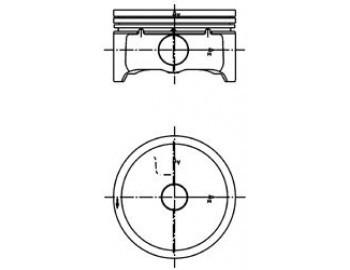 Поршень FORD/MAZDA 88.01 2.0 CJBB/LFF7/AODA (KS) 99457620