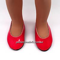 Туфли малиновые лаковые для кукол Паола Рейна