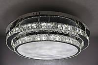 Люстра потолочная хрустальная LED с пультом (18х80х80 см.) Хром YR-C1875/800-ch