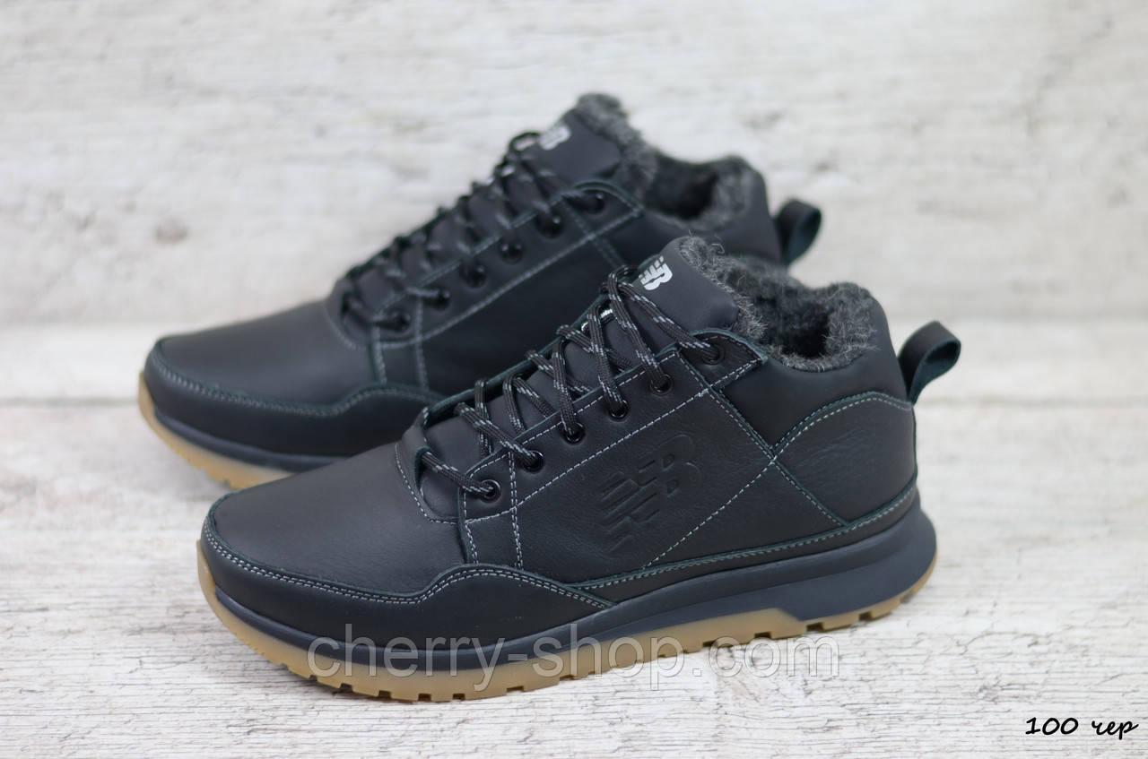 Стильные мужские кожаные зимние кроссовки New balance