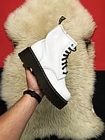 Женские ботинки Dr Martens Jadone White / Доктор Мартинс, белые