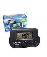 Часы с будильником, таймером и секундомером на липучке в автомобиль KK-613D опт
