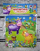 Пазлы на магнитах Baby Puzzle Корова и Теленок VT3204-13 Vladi Toys Украина
