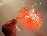 Обруч новогодний, оранжевый., фото 7