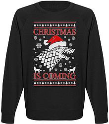 Мужской свитшот Game Of Thrones - Christmas Is Coming (чёрный)