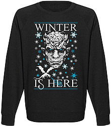 Мужской свитшот Game Of Thrones - Winter Is Here (чёрный)