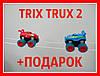 Машинки на веревках Trix Trux. Монстр трак Trix Trux 2 машинки. Magic Track, фото 2