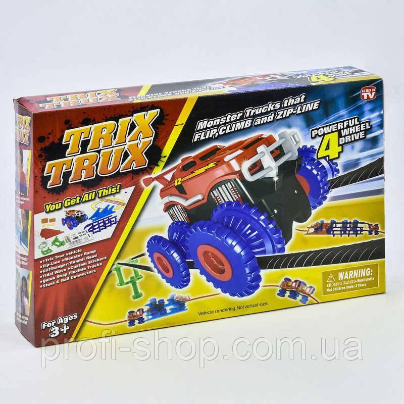 Трек канатный Trix trux машинка на батарейках, препятствие Натянутые струны, в коробке