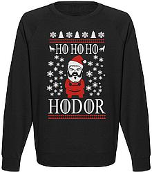 Мужской свитшот Game Of Thrones - Ho Ho Ho Hodor (чёрный)