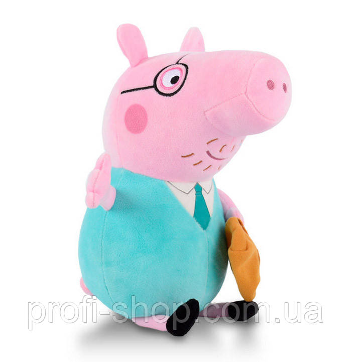 Папа Свин 30 см из мультфильма Свинка Пеппа, Peppa Pig