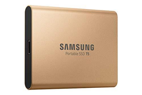 Портативный SSD накопитель Samsung T5 GOLD 1TB (MU-PA1T0G)