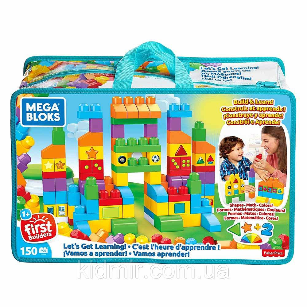 Конструктор Mega Bloks Давайте учиться 150 деталей FVJ49