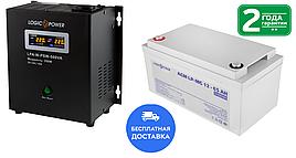 Комплект безперебойного питания для котла LPA-W-PSW-500VA(350Вт) 2A/5A/10А  и АКБ AGM LP-MG 12 - 65AH