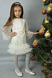 Детское платье для девочки на утренник, 191031Б/191031С,  от 4 до 8 лет, фото 2