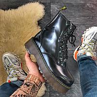Женские ботинки Dr Martens Jadone Black Fur / Доктор Мартинс Жадон, черный
