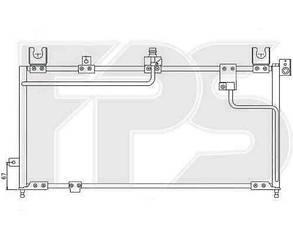 Радиатор кондиционера Мазда 323 95-98 C/S (BA) / MAZDA 323 (1995-1998)