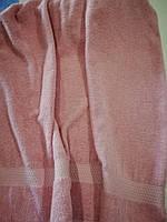 Рушник махровий 50*90  Рожевий 100% бавовна