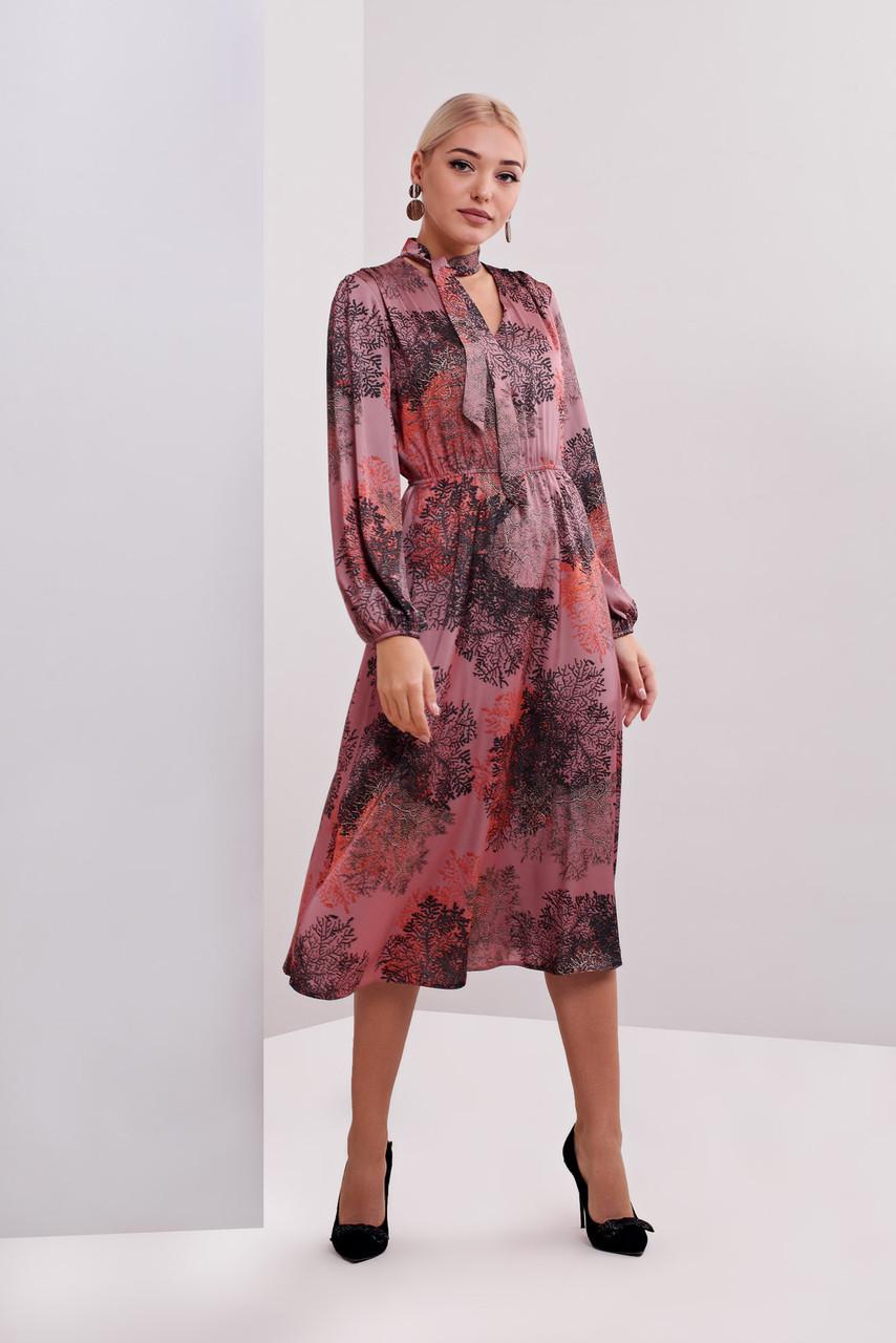 Платье на корпоратив из атласа 40, 42, 44, 46 размеры