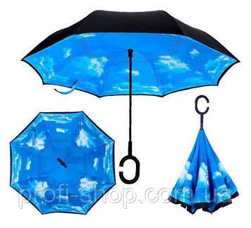 Зонт наоборот, небо, облака, зонт обратного сложения, ветрозащитный зонт, антизонт