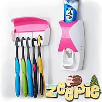 Диспенсер для зубной пасты и держатель щеток (Автоматический)