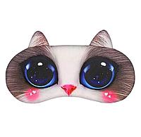 """Удобная и милая маска для сна """"3D Animal Faces - 1"""""""