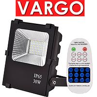 Solar LED 30w прожектор на солнечной батарее 30 ватт VARGO с пультом VS-321