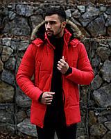 Куртка мужская Canada Зимняя Красная