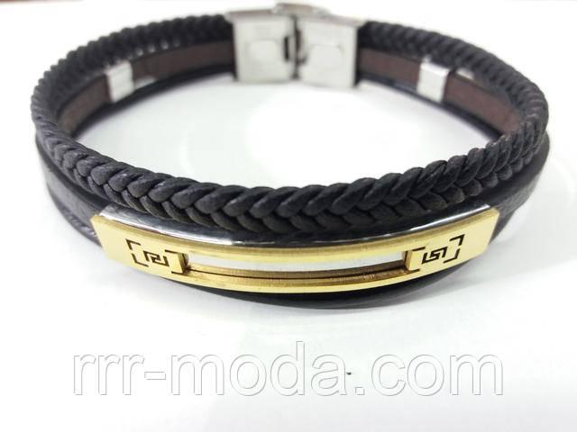 Кожаные Фенечки мужские - браслеты из натуральной кожи, украшения для мужчин со сталью оптом, фото.
