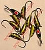 Блешня вольфрамова Bravo 2030-116 3.0 мм 0.6 гр. Ризький банан з вушком фарбований