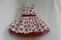Нарядное платье на девочку с снежинками