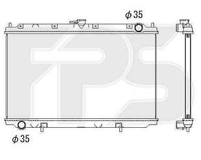 Радиатор Ниссан Примера 96-02 (P11/W11) / NISSAN PRIMERA P11/W11 (1996-2002)