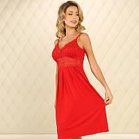 Женская ночная рубашка Violet delux НС-М-83 красный M