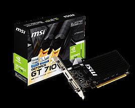 Відеокарта GeForce GT710, MSI, 2 Гб DDR3, 64-bit (GT 710 2GD3H LP), відеокарта, фото 2