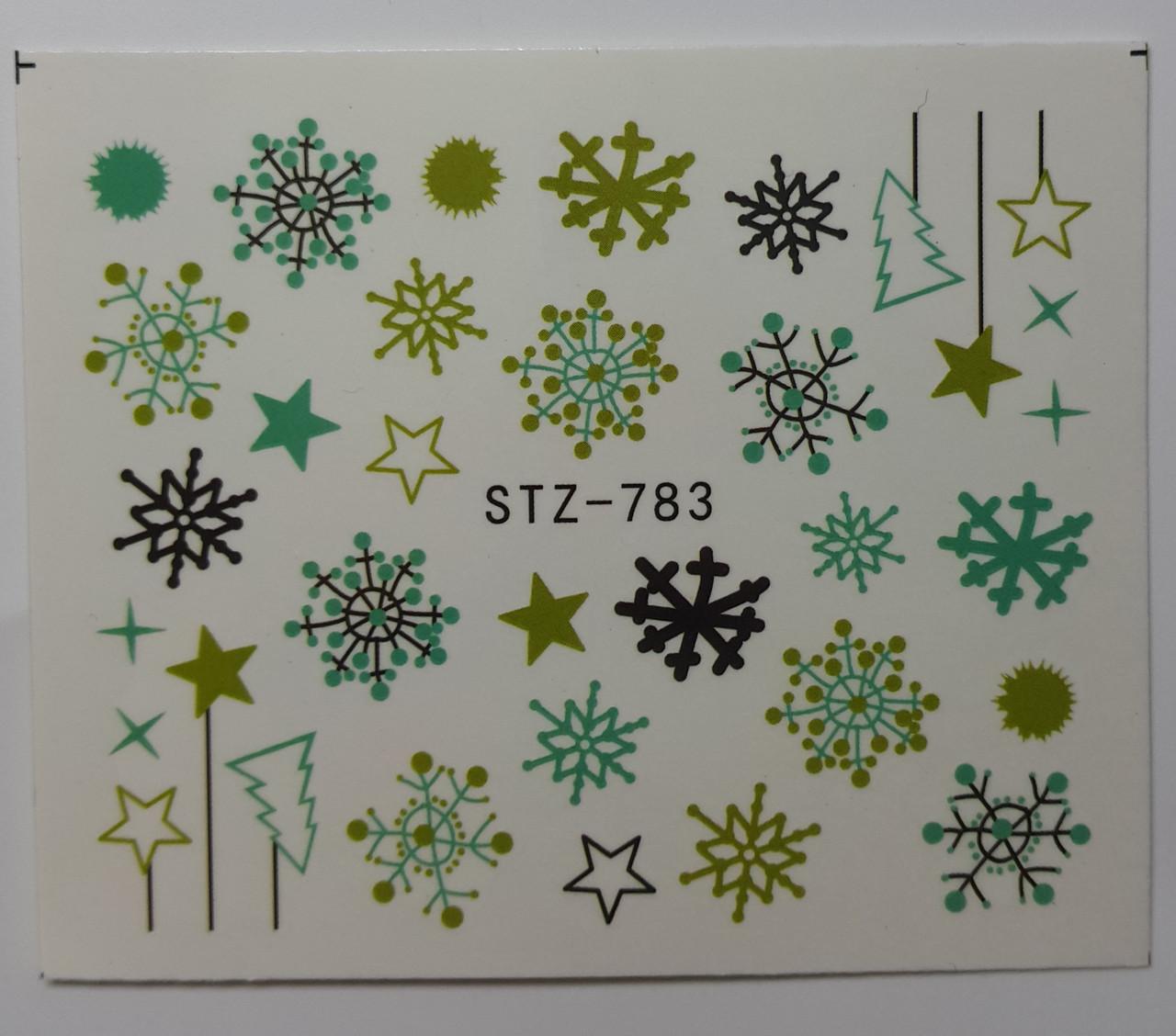 Наклейка для нігтів STZ-783