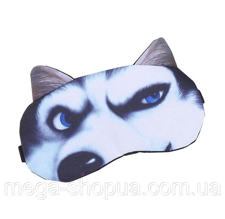 """Удобная и милая маска для сна """"3D Animal Faces - 8"""". Повязка для сна. Маска на глаза для сна. Маска для сну"""